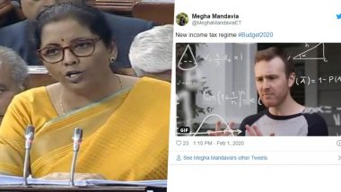 Budget Speech 2020: New Income Tax Slab Becomes Butt of All Jokes While Funny Memes over Calculation Confusion Go Viral on Twitter