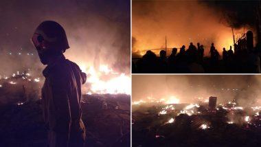 Delhi: Fire Breaks Out at Bengali Basti Area of Rohini, 12 fire Tenders at Spot