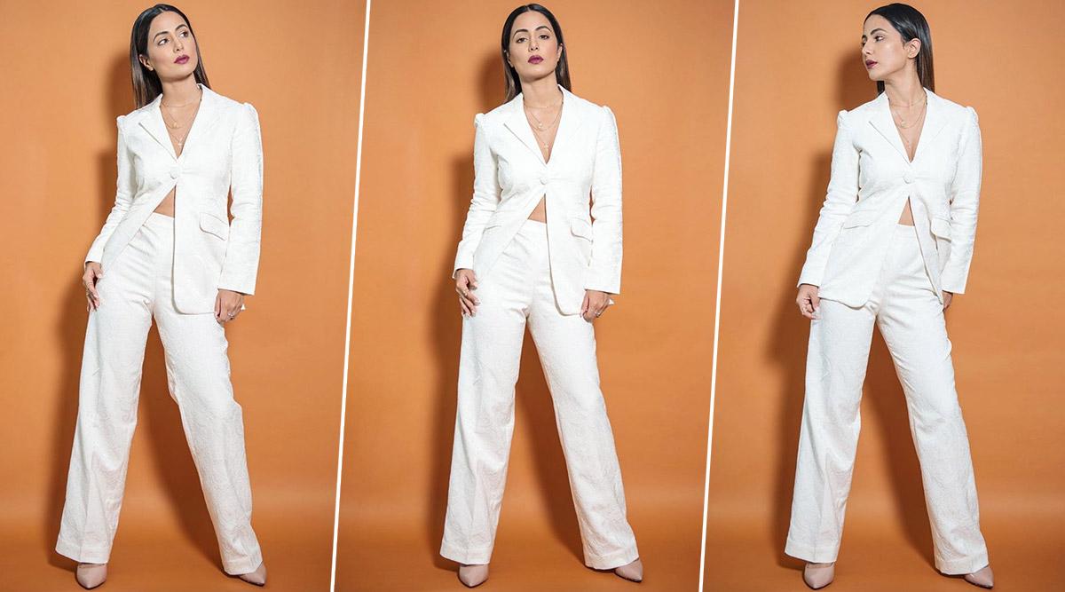 Yo or Hell No? Hina Khan's White Pantsuit by Ombrello