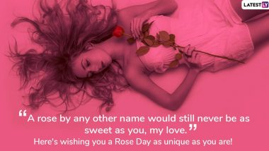 Hot Rose Day 2020 Images and Sexy Dirty Pick-up Lines: WhatsApp Messages and Sensuous Greetings For Passionate Couples to Mark Valentine Week