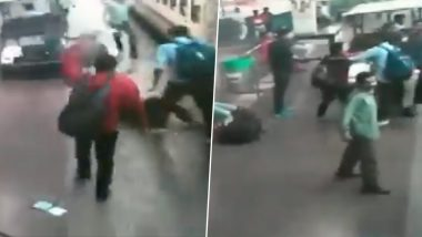 RPF Constable in Odisha Saves Woman Passenger From Running Over by Train at Bhubaneshwar Railway Station; Watch Video