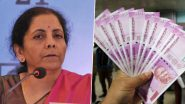 Rs 2,000 Currency Notes Update: Nirmala Sitharaman Dismisses Reports of 'Banks Being Instructed to Stop Putting Rs 2,000 Notes in ATMs'