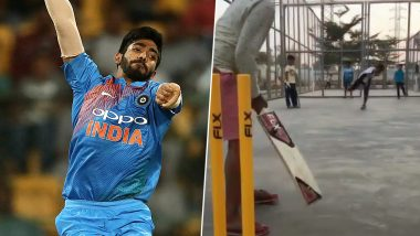 Samrudh Kini, 8-Year Old Kid, Nails Yorker Replicating Jasprit Bumrah's Bowling Action (Watch Video)