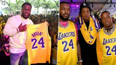 Jay-Z, Kevin Hart and Others Pay Tribute to Kobe Bryant at Fanatics Super Bowl Party