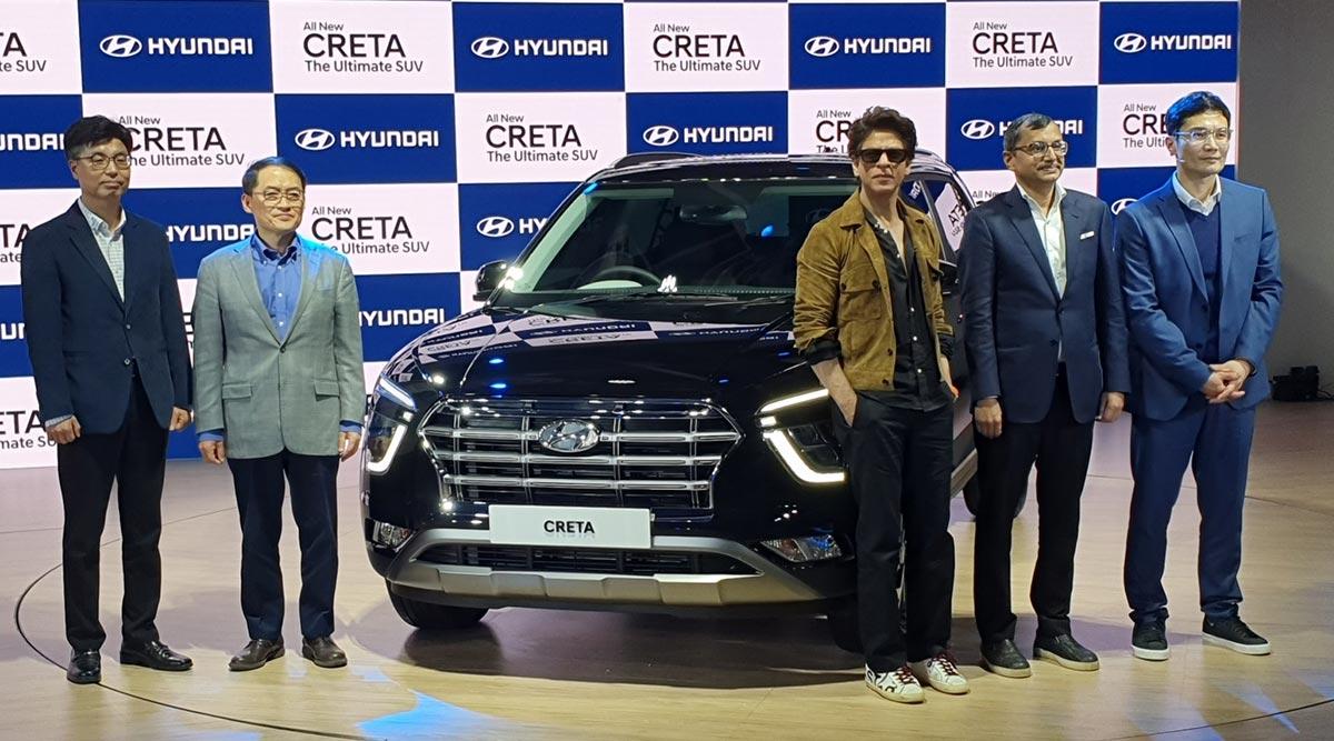 Auto Expo 2020: New Hyundai Creta SUV Unveiled By Shahrukh Khan