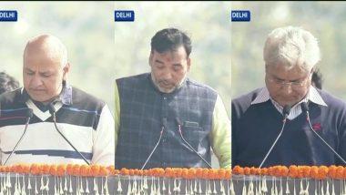 Manish Sisodia, Satyendar Jain, Imran Hussain, Kailash Gahlot, Gopal Rai Take Oath as Ministers of Delhi Cabinet
