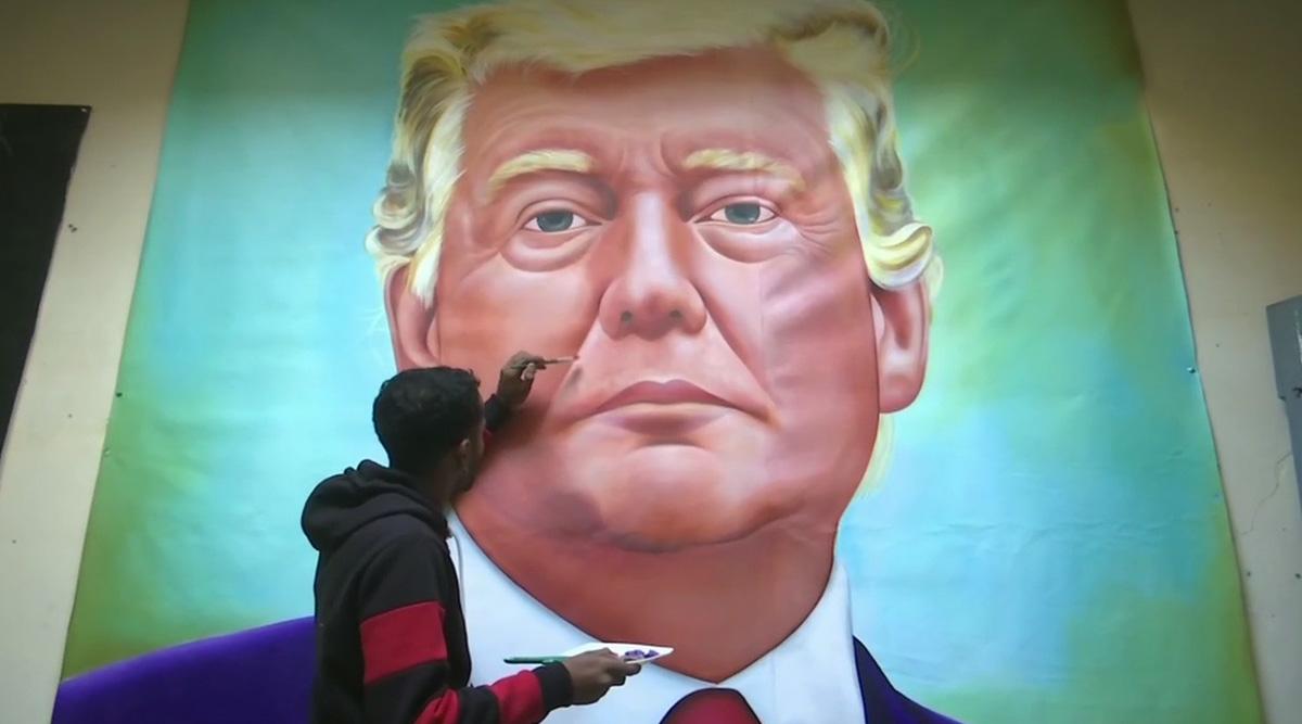 Jagjot Singh Rubal, Amritsar-Based Artist, Makes Lifelike Portrait of US President Donald Trump Ahead of His Visit to India; See Pics