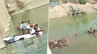 Rajasthan: 24 Dead, Several Injured After Bus Carrying Wedding Guests Falls Into Mej River in Bundi