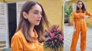Aditi Rao Hydari Blazes in an Orange Cinched Suit, Her Chic Style Is a Perfect Steal!