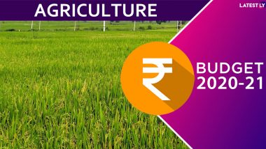 Agriculture Budget 2020-21: Nirmala Sitharaman Allocates Rs 2.83 Lakh Crore, Proposes Doubling Farmers' Income by 2022 Under 'Aspirational India' Theme