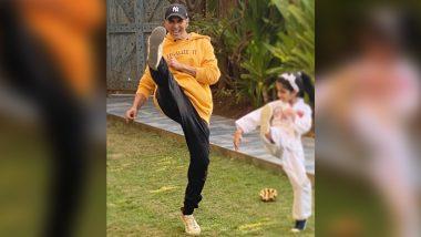Akshay Kumar Training Daughter Nitara Just Before Her Karate Exam Will Make You Praise the 'Khiladi' Even More