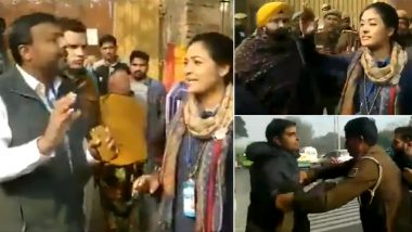 Delhi Assembly Elections 2020: Congress Candidate Alka Lamba Loses Her Cool, Tries to Slap AAP Worker Over Comment on Her Son; Watch Video