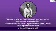 Anandi Gopal Joshi Death Anniversary: Quotes by India's First Female Doctor That Will Inspire You!