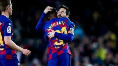 La Liga 2019-20 Match Result: Ansu Fati and Lionel Messi Connection Sees Barcelona Hold on Against Levante