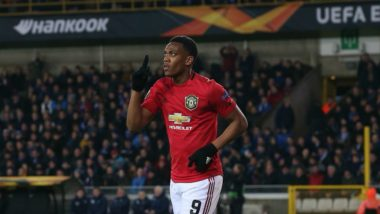Europa League 2019-20: Anthony Martial Grabs Key Goal As Manchester United Draw 1-1 To Club Brugge in Belgium