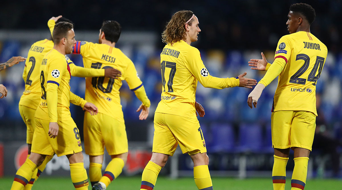 Napoli 1–1 Barcelona, UEFA Champions League 2019–20: Antoine Griezmann Bails Out Spanish Giants After Poor Display in Naples