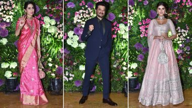 Armaan Jain Wedding Reception: Karisma Kapoor, Anil Kapoor, Tara Sutaria, Amitabh Bachchan and More Attend The Starry Function (Watch Videos)