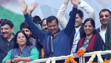 Arvind Kejriwal Swearing-in Ceremony Today; AAP Leader to Take Oath as Delhi CM For Third Consecutive Time at Iconic Ramlila Maidan