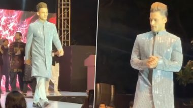 Bigg Boss 13 Fame Asim Riaz Looks Shiny and Bright as He Turns Showstopper for a Designer (Watch Video)