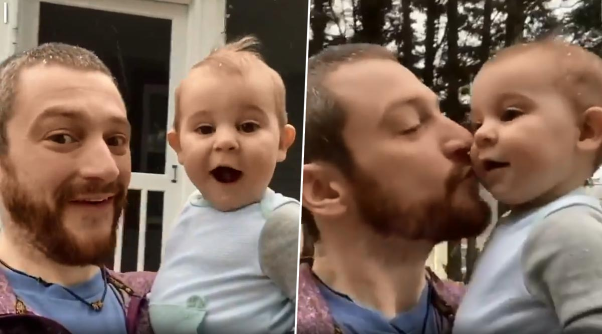 North Carolina Baby's Amazement on Seeing Snow For The First Time Will Make You Smile! (Watch Video)
