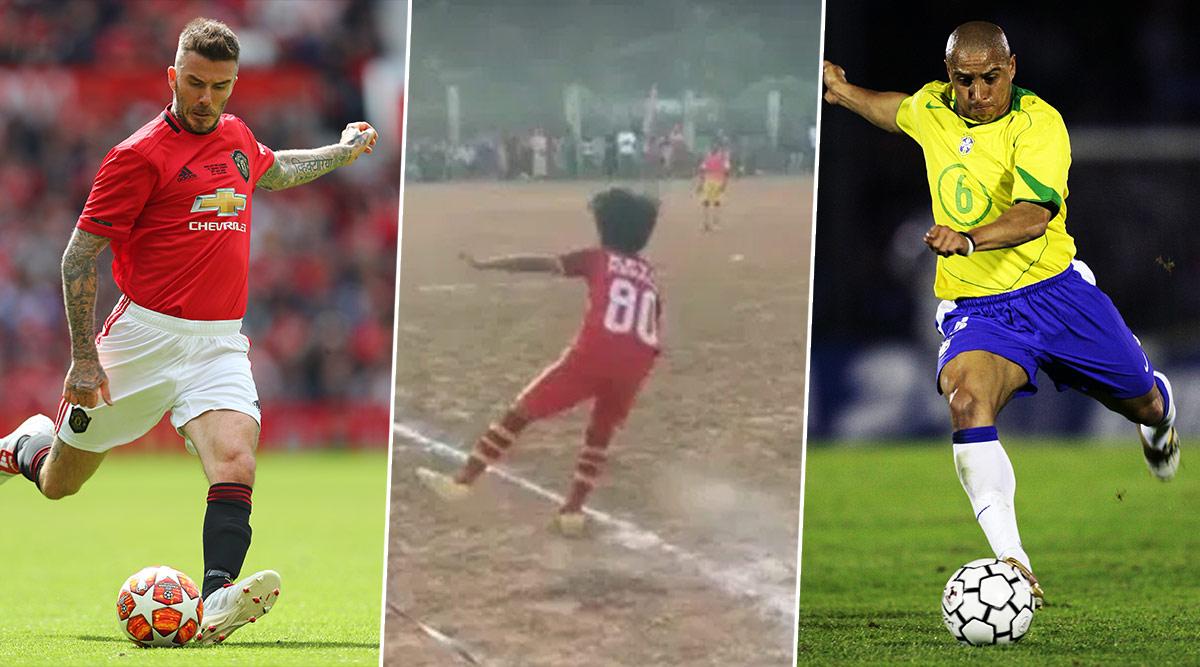 PK Danish, 10-Year-old Kerala Boy, Scores a Goal From Corner Kick! Watch Videos of David Beckham To Roberto Carlos, Who Scored Unbelievable Zero-Degree Goals