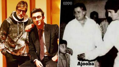 Amitabh Bachchan Shares Ranbir Kapoor's Glimpse From Ajooba to Brahmastra and It's All Things Nostalgic (View Pic)