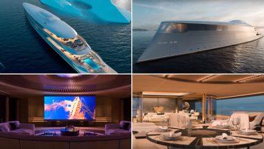 Bill Gates Buys Massive Eco-Friendly Superyacht 'Aqua' Worth $645 Million, Powered Entirely by Liquid Hydrogen (Watch Video)