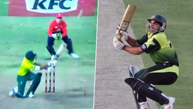 Bjorn Fortuin's Shot During SA vs ENG 2nd T20I Reminds Fans of Misbah-Ul-Haq's Infamous Scoop Shot in IND vs PAK ICC World T20 2007 Final, See Reactions