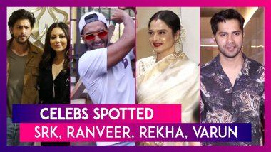 Shah Rukh Khan, Ranveer Singh, Rekha, Varun Dhawan & Others Seen In The City I Celebs Spotted