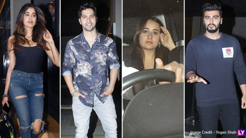 Shashank Khaitan's Birthday Bash: Janhvi Kapoor, Varun Dhawan with GF Natasha Dalal, Arjun Kapoor and Other Celebs Spotted at the Director's Residence (View Pics and Videos)