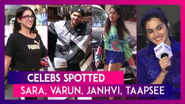 Sara Ali Khan, Janhvi Kapoor, Varun Dhawan, Taapsee Pannu & Others Seen In The City I Celebs Spotted