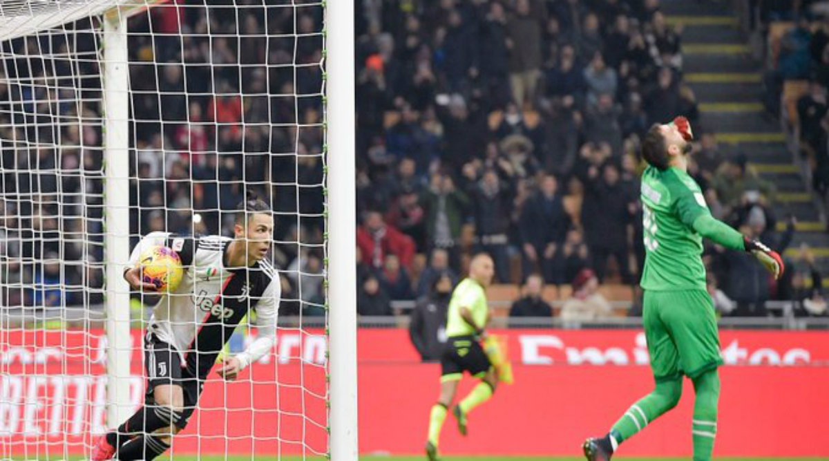 Cristiano Ronaldo Injury-Time Penalty Helps Juventus to 1-1 Draw Against AC Milan in 1st Leg of 2019-20 Coppa Italia Semis