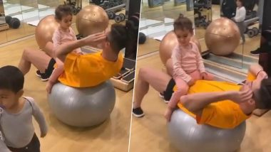 Cristiano Ronaldo Shares Cute Video of Working Out in the Gym With His Kids