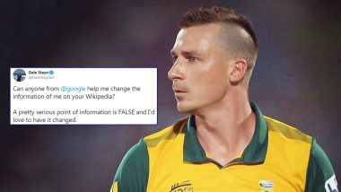 Dale Steyn Seeks Google's Help to Edit 'False' Information on His Wikipedia Page, Fans Mock Him With Funny Replies (See Reactions)