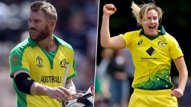 Australia Cricket Awards 2020 Winners List: David Warner Win Allan Border Medal, Ellyse Perry Bags Belinda Clark Award