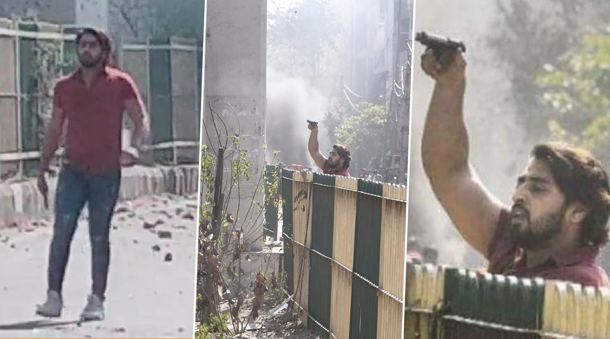 Delhi Violence: Man Seen in Video Aiming Gun at Cop, Opening Fire During Pro, Anti-CAA Protesters' Clash in Jaffrabad