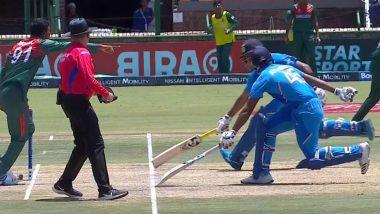 Dhruv Jurel, Atharva Ankolekar Involved in Terrible Run-Out During India vs Bangladesh Final Clash in ICC U19 Cricket World Cup 2020 (Watch Video)