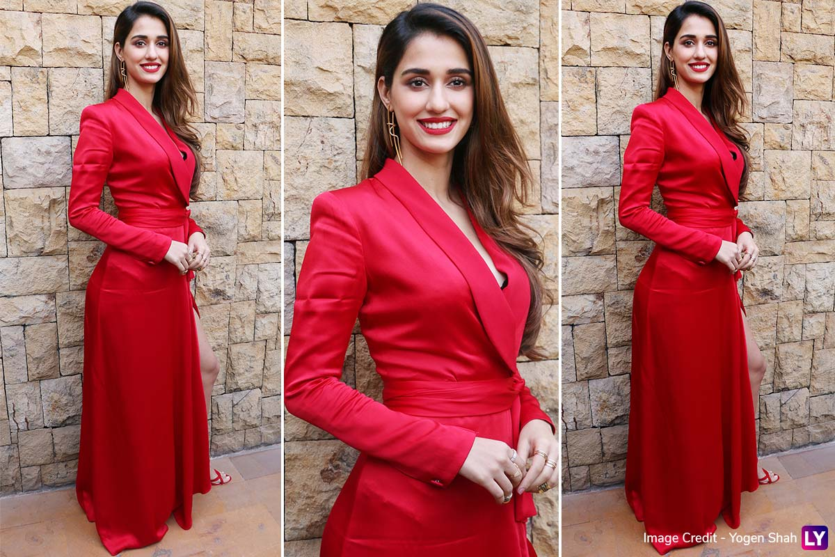 Oo La La Disha Patani In Red Is Every Lover Boy S Valentine This Month