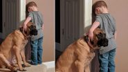 Photo of Dog Joining Boy During Timeout Wins The Heart of Netizens!