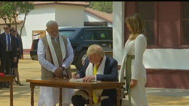 Thank You Prime Minister Narendra Modi for Wonderful Visit: Trump Writes in Sabarmati Ashram's Visitor Book