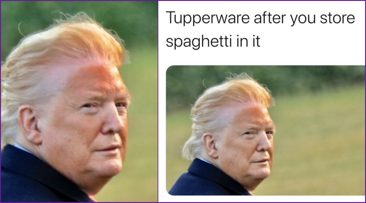Donald Trump's Orange Face Becomes Target of Funny Memes and Jokes, US  President Tweets It's Fake But Says 'Hair Looks Good' | 👍 LatestLY