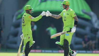 BBL 2019-20: Sydney Thunder Defeat Adelaide Strikers by Eight Runs in Big Bash League