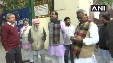 Delhi Assembly Elections 2020: BJP Leader Ram Madhav, RSS' Krishna Gopal Cast Vote at Jhandewalan Polling Station