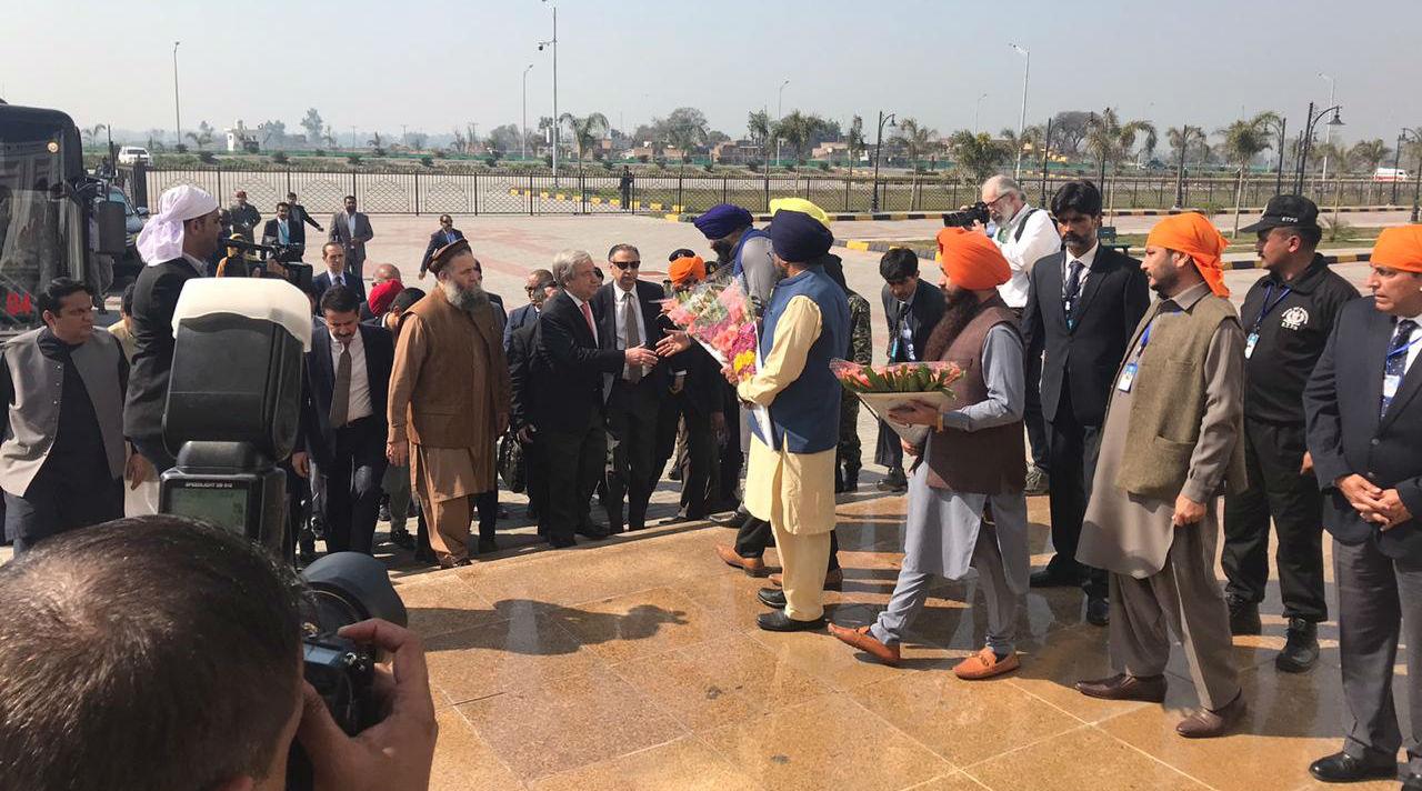 UN Chief Antonio Guterres Visits Gurdwara Darbar Sahib Kartarpur in Pakistan