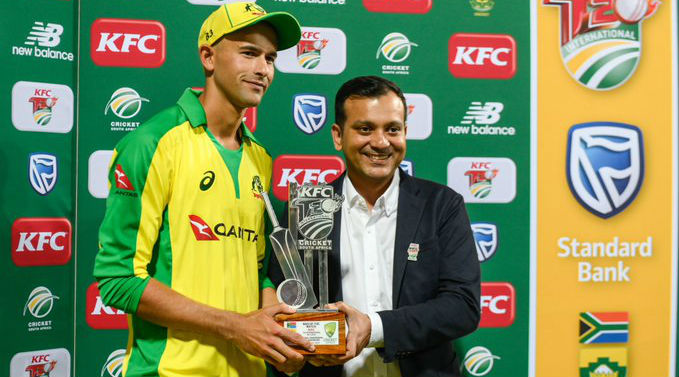 SA vs AUS 1st T20I 2020 Match Result: Ashton Agar's Fifer Takes Australia to 107-Run Win Over South Africa at Wanderers Stadium