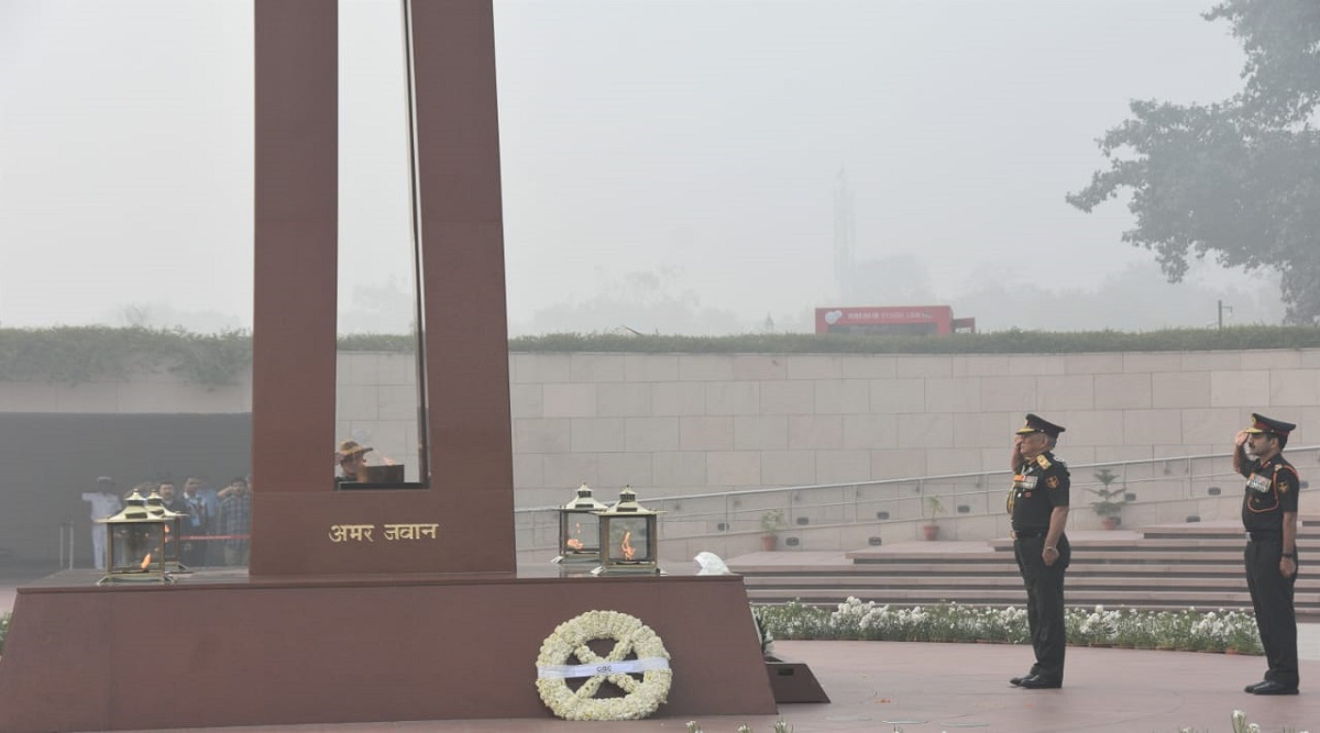 CDS General Bipin Rawat Pays Tribute at National War Memorial On Its First Anniversary
