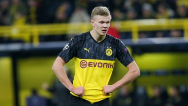 Borussia Dortmund's Erling Haaland Copies Cristiano Ronaldo's 'Siiiiu' Celebration (Watch Video)