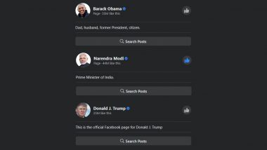 Is Donald Trump 'Number 1' And Narendra Modi 'Number 2' on Facebook? Fact-Check of US President's Claim Ahead of His India Visit