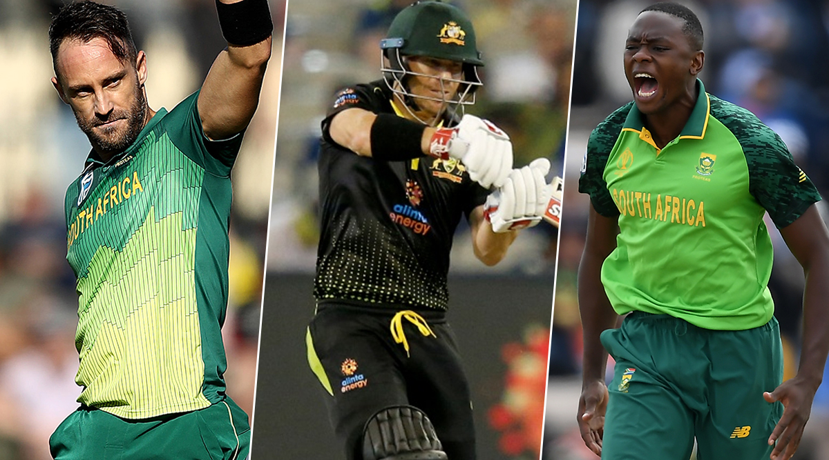 South Africa vs Australia T20I Series 2020, Key Players: Faf du Plessis, David Warner, Kagiso Rabada and Other Cricketers to Watch Out For