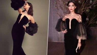 Fashion Face-Off: Deepika Padukone or Sonam Kapoor Ahuja in Yanina Couture? Whose Bewitching Black Gown Was a Hoot?
